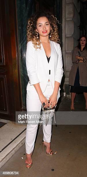 Ella Eyre at Cafe Royal hotel on December 1 2014 in London England
