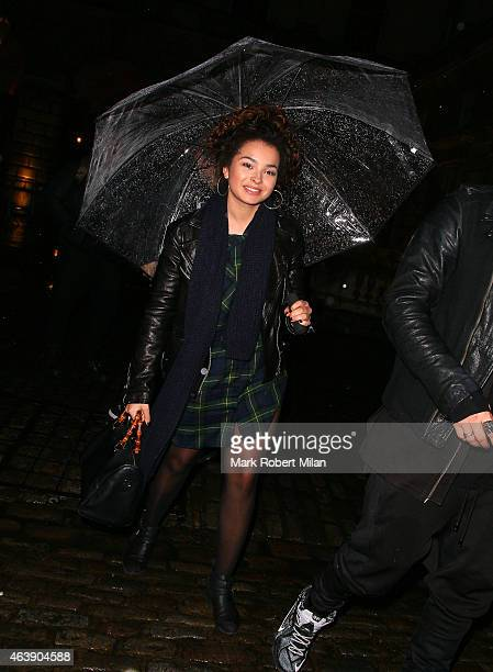 Ella Eyre attending the Fashion For Relief LFW FW15 show on February 19 2015 in London England