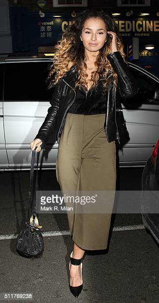 Ella Eyre attending the JF London a/w1617 presentation and party at the W hotel on February 22 2016 in London England