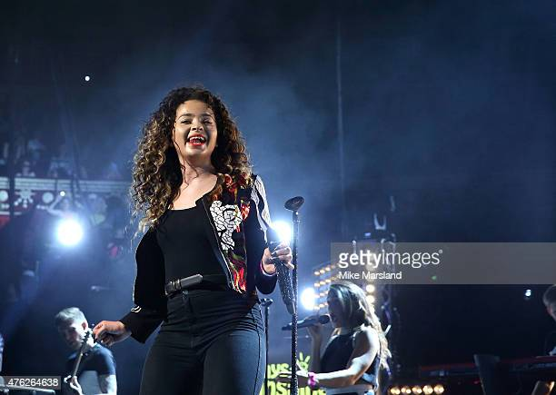 Ella Eyre attends Frankie And Benny's Rays Of Sunshine Concert at Royal Albert Hall on June 7 2015 in London England