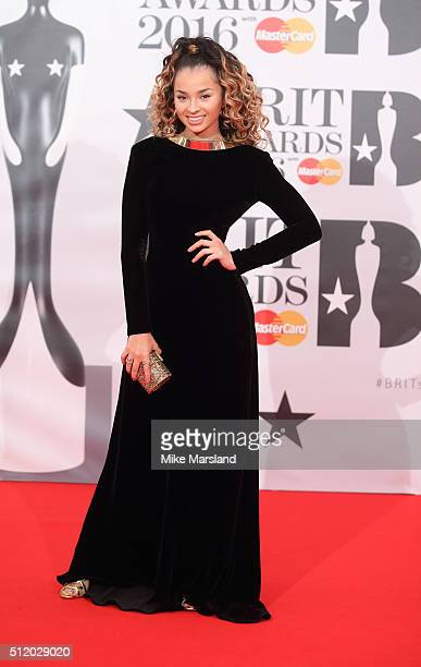 Ella Eyre attends the BRIT Awards 2016 at The O2 Arena on February 24 2016 in London England