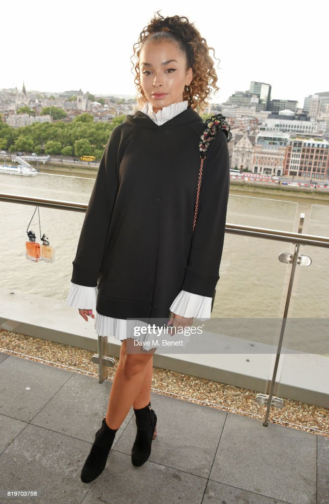 Ella Eyre attends the Emporio Armani You Fragrance launch at Sea Containers on July 20, 2017 in London, England.