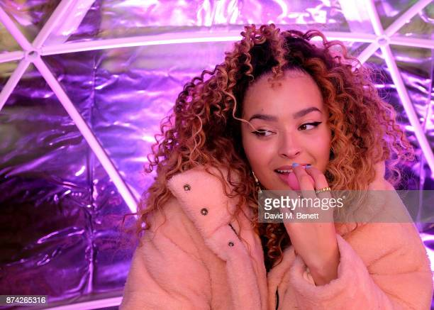 Ella Eyre attends the EOS Lip Balm Winter Lips Party at Southbank Centre on November 14 2017 in London England
