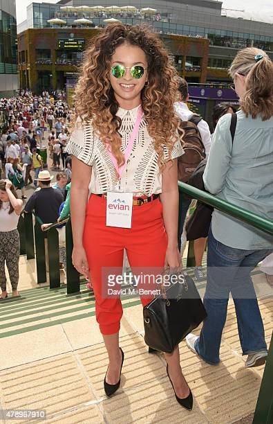 Ella Eyre attends the evian Live Young suite on the opening day of Wimbledon at the All England Lawn Tennis and Croquet Club on June 29 2015 in...