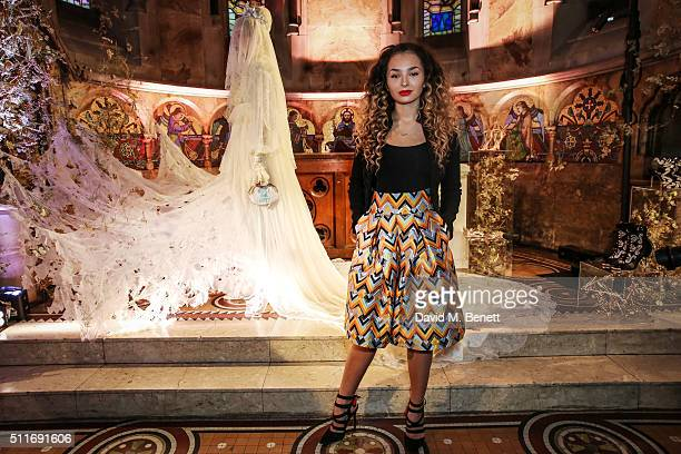 Ella Eyre attends the launch of the Sophia Webster presentation during London Fashion Week Autumn/Winter 2016/17 at The House of St Barnabas on...