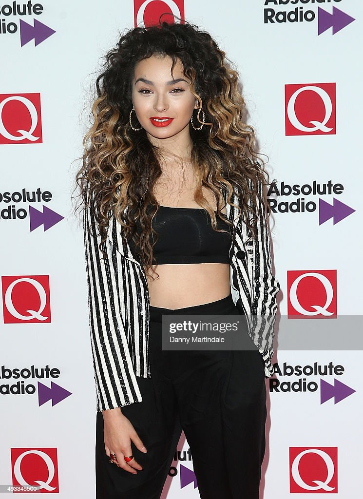 Ella Eyre attends the Q Awards at The Grosvenor House Hotel on October 19, 2015 in London, England.