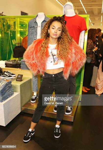 Ella Eyre attends the Weekday store launch on August 16 2017 in London England