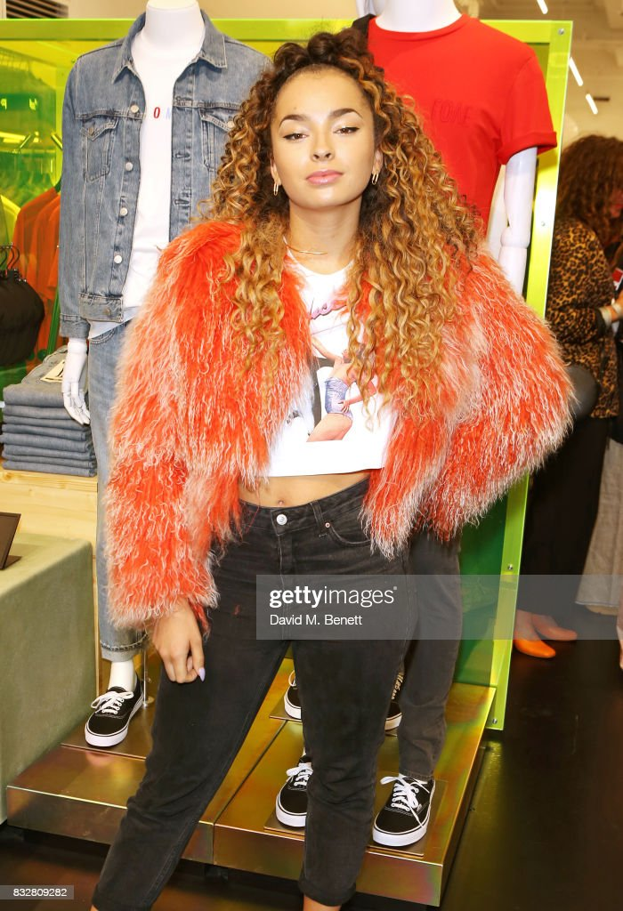 Ella Eyre attends the Weekday store launch on August 16, 2017 in London, England.