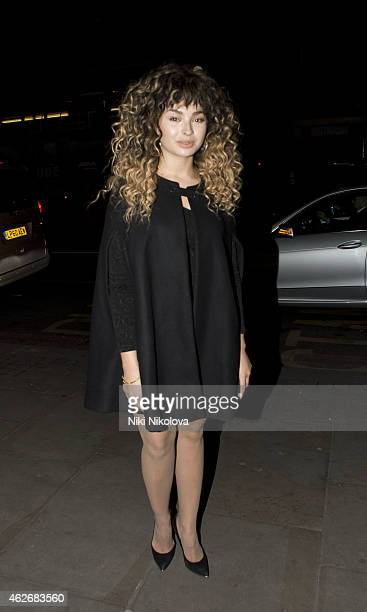Ella Eyre is seen arriving at the Ace hotel Shorditch on February 2 2015 in London England