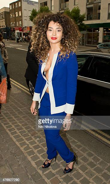 Ella Eyre is seen arriving at the Round House Camden on June 12 2015 in London England