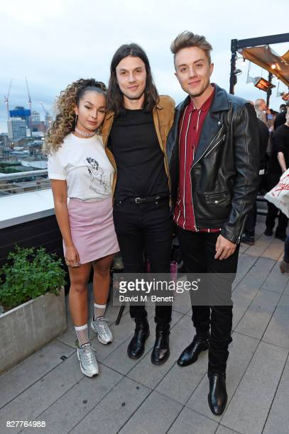 Ella Eyre James Bay and Roman Kemp attend the launch of James Bay's new Topman collection at The Ace Hotel on August 8 2017 in London England