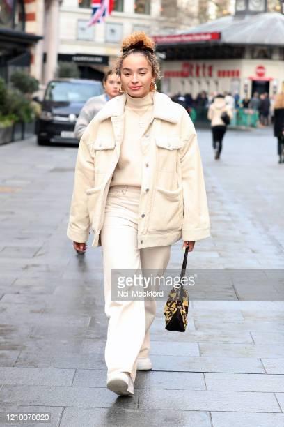 Ella Eyre leaving Capital Radio Studios on March 03 2020 in London England