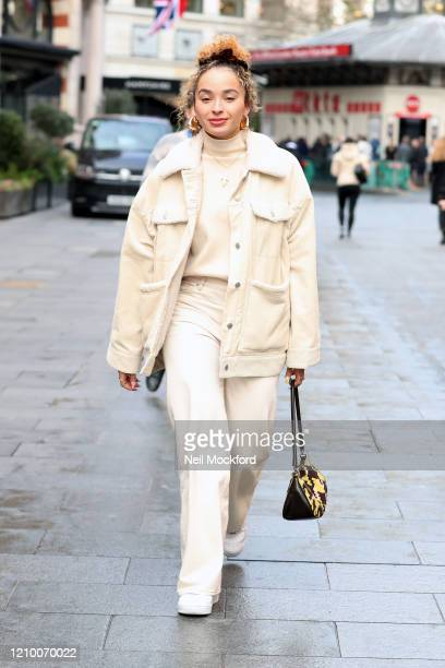 Ella Eyre leaving Capital Radio Studios on March 03 2020 in London England
