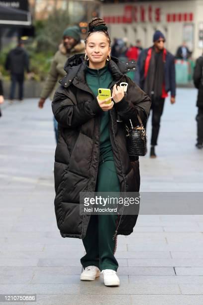 Ella Eyre leaving Global Radio studios on March 06, 2020 in London, England.