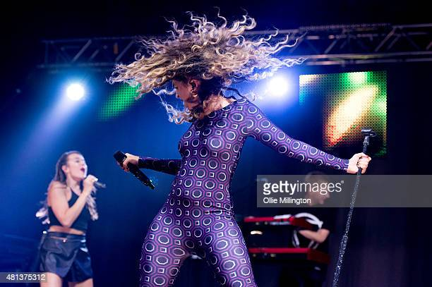 Ella Eyre performs at Manchester Arena on July 19 2015 in Manchester England