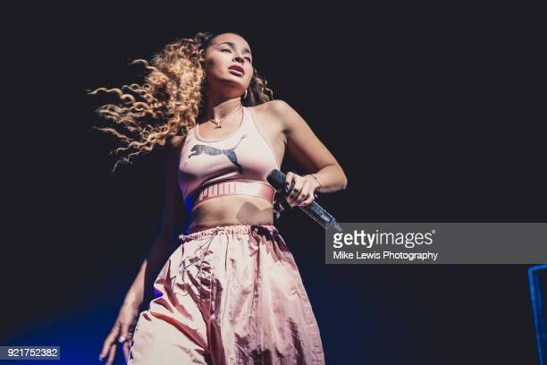 Ella Eyre performs at Motorpoint Arena on February 20 2018 in Cardiff Wales