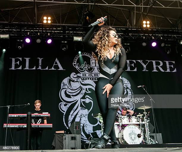 Ella Eyre performs at Warwick Castle on July 10 2015 in Warwick United Kingdom