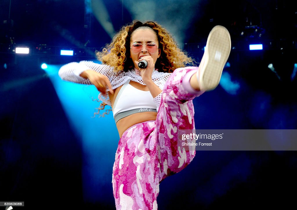 Ella Eyre performs live on stage during V Festival 2017 at Weston Park on August 20, 2017 in Stafford, England.