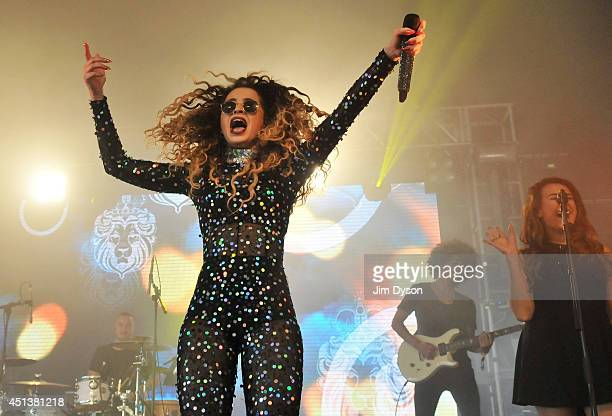 Ella Eyre performs live on the Sonic stage during day two of the Glastonbury Festival at Worthy Farm in Pilton on June 28, 2014 in Glastonbury,...