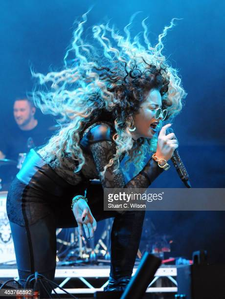Ella Eyre performs on Day 2 of the V Festival at Hylands Park on August 17 2014 in Chelmsford England