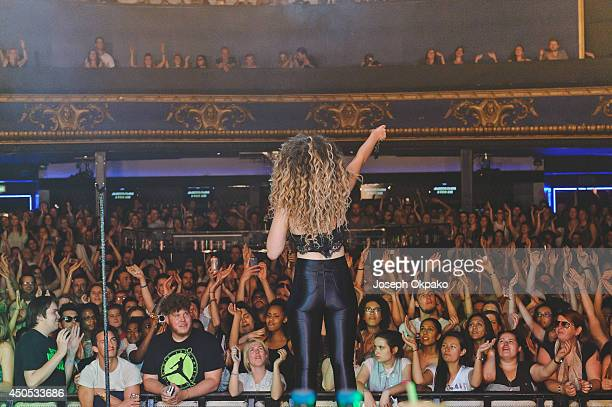 Ella Eyre performs on stage at Electric Brixton on June 12 2014 in London United Kingdom