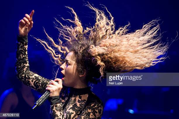 Ella Eyre performs on stage at Shepherds Bush Empire on October 10 2014 in London United Kingdom