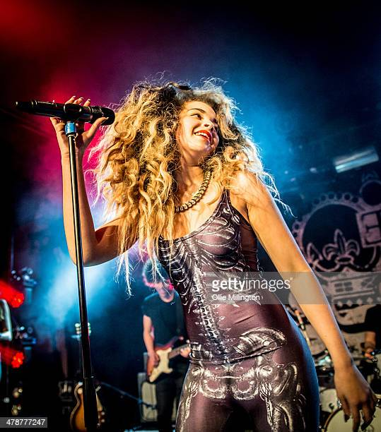 Ella Eyre performs on stage during her March 2014 UK Tour at The Institute on March 14 2014 in Birmingham United Kingdom