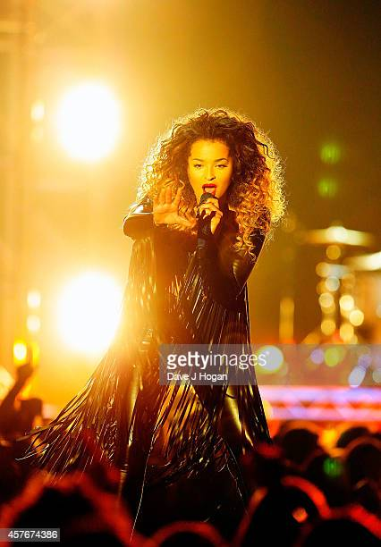 Ella Eyre performs onstage at the MOBO Awards at SSE Arena on October 22 2014 in London England