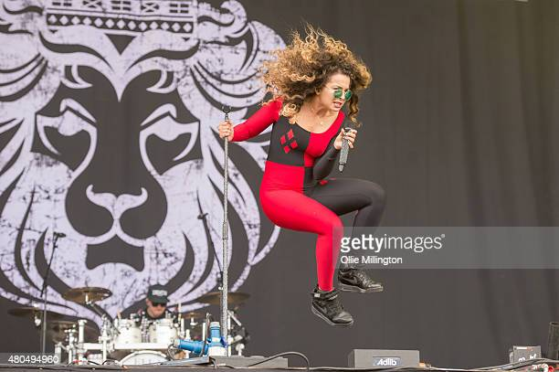 Ella Eyre performs onstage on Day 3 of the T in the Park festival at Strathallan Castle on July 12 2015 in Perth Scotland
