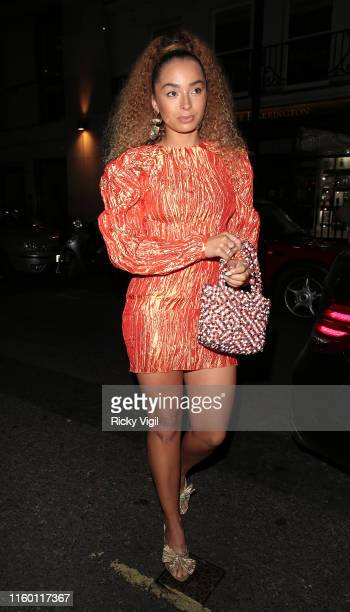 Ella Eyre seen attending CÎROC x Moschino x Jeremy Scott Pride party at MNKY HSE on July 04 2019 in London England