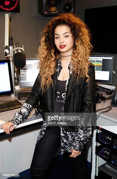 Ella Eyre visits Kiss FM Studio's on October 2 2014 in London England
