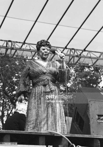 Ella Fitzgerald, Capital Jazz Festival, Knebworth, Herts, July 1981. Artist Brian O'Connor.