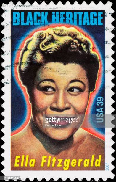usa ella fitzgerald postage stamp - social history stock pictures, royalty-free photos & images