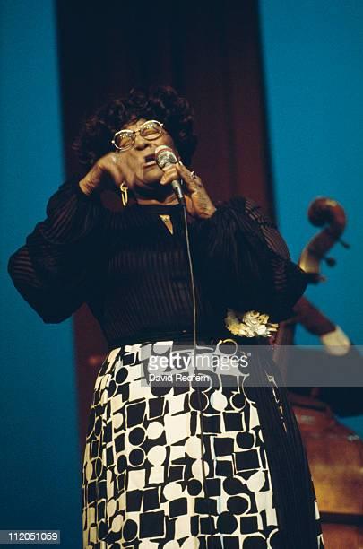 Ella Fitzgerald US jazz singer performing live in concert circa 1980