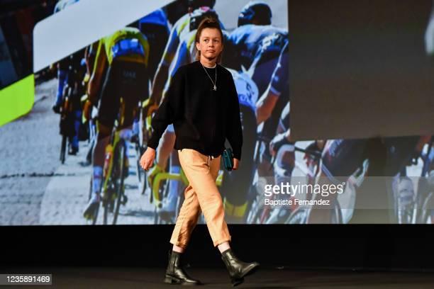 Ella HARRIS during the presentation of the Tour de France 2022 at Palais des Congres on October 14, 2021 in Paris, France.