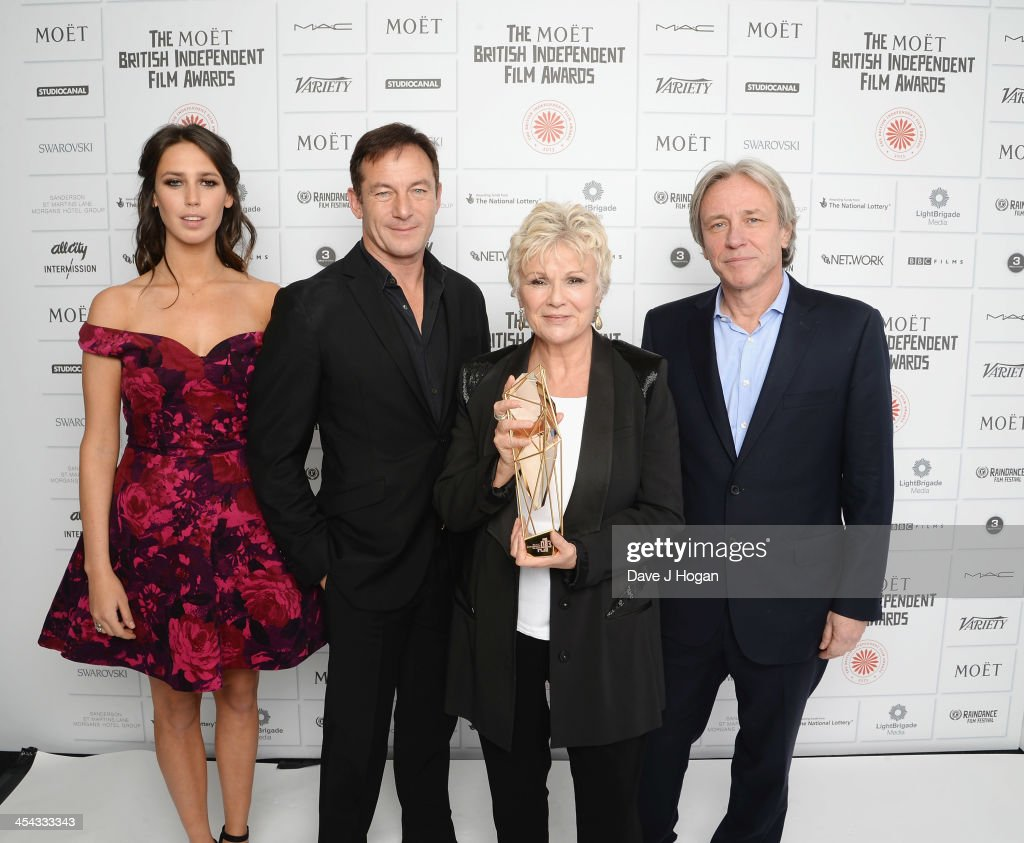 Ella Harris, Jason Isaacs, Julie Walters winner of the Richard Harris Award and Damian Harris attends the Moet British Independent Film Awards 2013 at Old Billingsgate Market on December 8, 2013 in London, England.