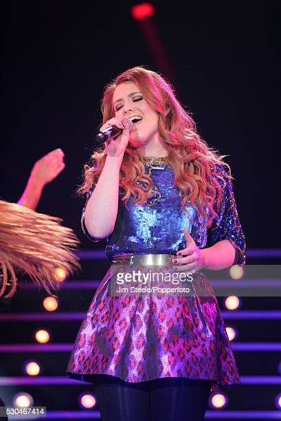 Ella Henderson performing on stage during the X Factor Tour at Wembley Arena in London on the 22nd February 2013