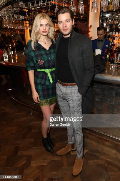 Ella Hope Merryweather and Dominic Sherwood attend the Pat McGrath 'A Technicolour Odyssey' Campaign launch party at Brasserie of Light Selfridges on...
