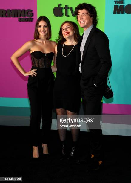 Ella Hunt Alena Smith and Adrian Blake Enscoe attend Apple TV's The Morning Show World Premiere at David Geffen Hall on October 28 2019 in New York...