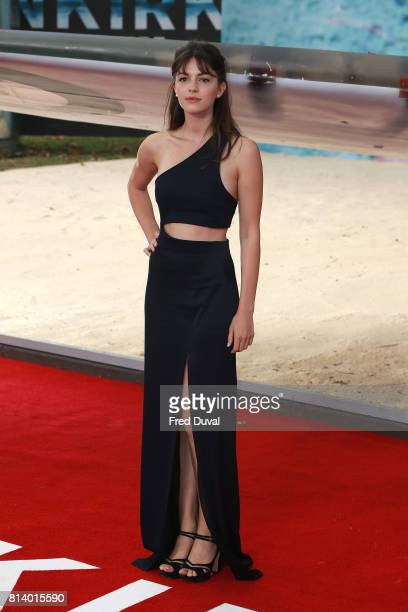 Ella Hunt arrives at the 'Dunkirk' World Premiere at Odeon Leicester Square on July 13 2017 in London England
