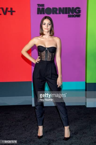 Ella Hunt attends Apple TV's The Morning Show world premiere at David Geffen Hall on October 28 2019 in New York City