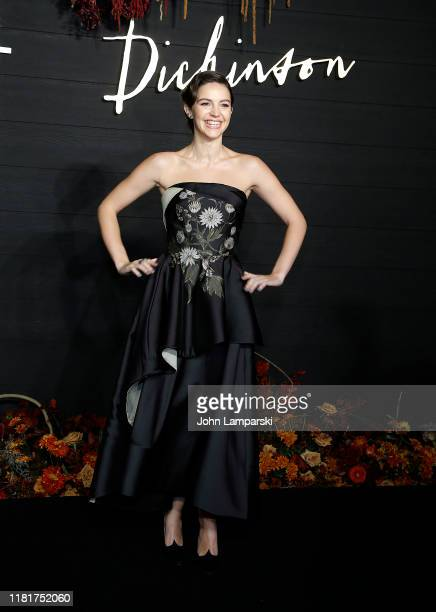 Ella Hunt attends Dickinson New York Premiere at St Ann's Warehouse on October 17 2019 in New York City