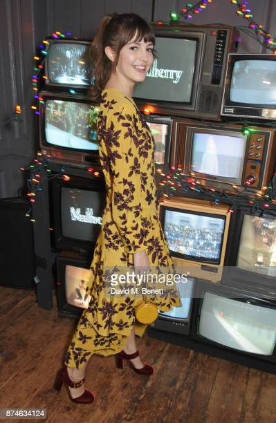 Ella Hunt attends Mulberry's 'It's Not Quite Christmas' party on November 15 2017 in London England