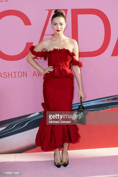 Ella Hunt attends the 2019 CFDA Fashion Awards at the Brooklyn Museum of Art on June 03 2019 in New York City
