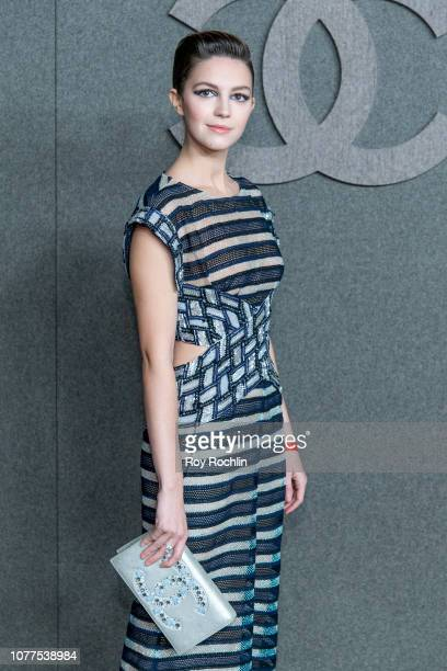 Ella Hunt attends the Chanel Metiers D'Art 2018/19 Show at The Metropolitan Museum of Art on December 04 2018 in New York City