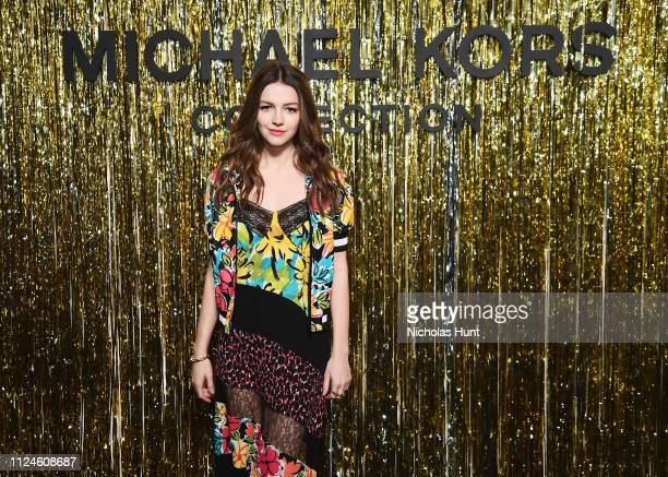 Ella Hunt attends the Michael Kors Collection Fall 2019 Runway Show at Cipriani Wall Street on February 13 2019 in New York City
