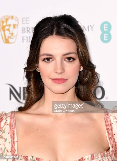 Ella Hunt attends the Nespresso British Academy Film Awards nominees party at Kensington Palace on February 9 2019 in London England
