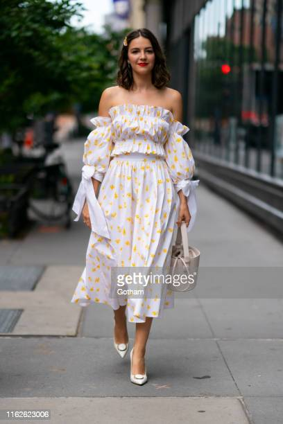 Ella Hunt is seen outside the Build Studio on July 17 2019 in New York City
