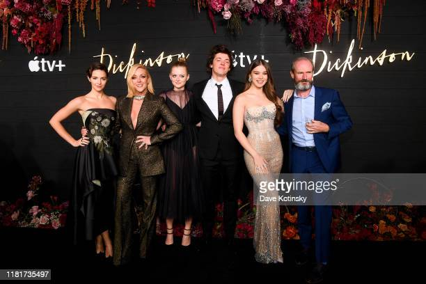 Ella Hunt Jan Krakowski Anna Baryshnikov Adrian Blake Enscoe Hailee Steinfeld and Toby Huss attend Apple's Global Premiere for Dickinson on October...