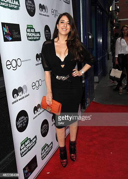 Ella Jade arrives at The Ego Professional Macmillan Cancer Party on July 28 2015 in London England